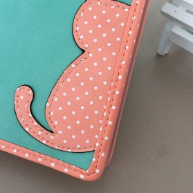 Dompet Wanita Cat Pattern - Black - 4