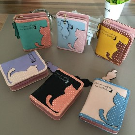 Dompet Wanita Cat Pattern - Black - 6