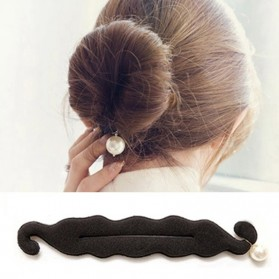 Smart Cute Kuncir Rambut Cepol Korea - 6098 - Black