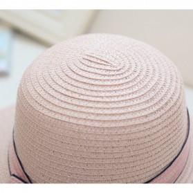 Ymsaid Topi Pantai Wanita Anti UV Elegant Summer Style - Beige - 2
