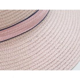 Ymsaid Topi Pantai Wanita Anti UV Elegant Summer Style - Beige - 3