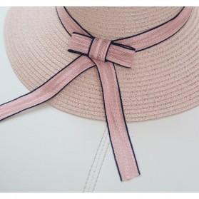 Ymsaid Topi Pantai Wanita Anti UV Elegant Summer Style - Beige - 4