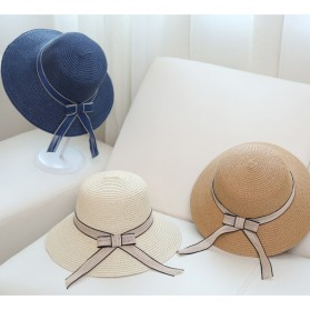 Ymsaid Topi Pantai Wanita Anti UV Elegant Summer Style - Beige - 5