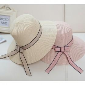 Ymsaid Topi Pantai Wanita Anti UV Elegant Summer Style - Beige - 6