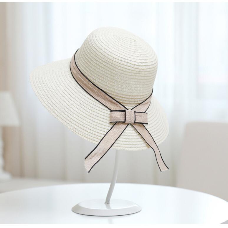 ... Topi Pantai Wanita Anti UV Elegant Summer Style - Beige - 1 ... b438a23d91