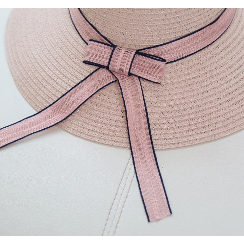 ... Topi Pantai Wanita Anti UV Elegant Summer Style - Beige - 4 ... 67701450d4