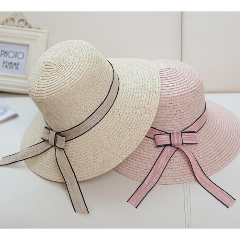 ... Topi Pantai Wanita Anti UV Elegant Summer Style - Beige - 6 ... fed69579bd