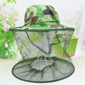 KLV Topi Mancing Jaring Camouflage Anti Nyamuk Lebah - Green - 2