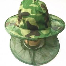 KLV Topi Mancing Jaring Camouflage Anti Nyamuk Lebah - Green - 3