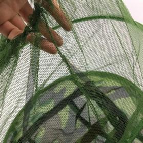 KLV Topi Mancing Jaring Camouflage Anti Nyamuk Lebah - Green - 4