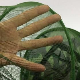 KLV Topi Mancing Jaring Camouflage Anti Nyamuk Lebah - Green - 5