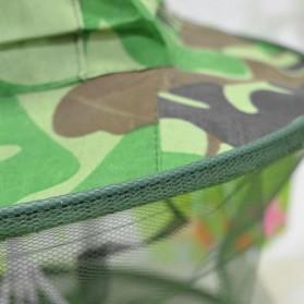 KLV Topi Mancing Jaring Camouflage Anti Nyamuk Lebah - Green - 6