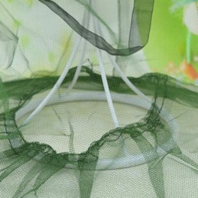 KLV Topi Mancing Jaring Camouflage Anti Nyamuk Lebah - Green - 7