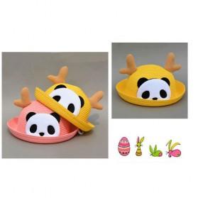 Topi Pantai Bayi Motif Panda - Beige - 2