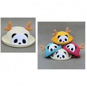 Topi Pantai Bayi Motif Panda - Beige - 3
