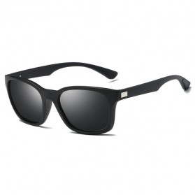 Kacamata Pria Sunglasses Polarized Anti UV400 - TR90 - Black