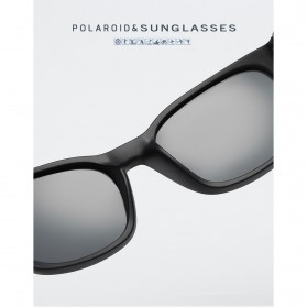 Kacamata Pria Sunglasses Polarized Anti UV400 - TR90 - Black - 4