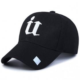 Topi Baseball U Letter - Black