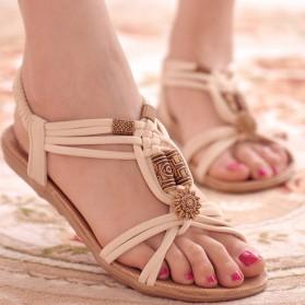 Sandal Selop Wanita Flat Bohemian Summer Size 37 - Black - 4