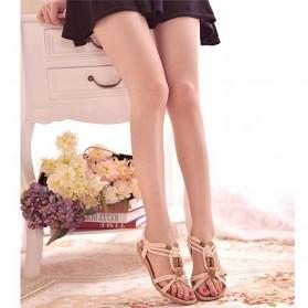 Sandal Selop Wanita Flat Bohemian Summer Size 37 - Black - 5