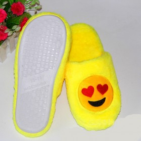 Sandal Rumah Selop Wanita Emoji Cute Home Slipper Size 36-37 - Yellow - 2