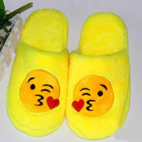 Sandal Rumah Selop Wanita Emoji Cute Home Slipper Size 36-37 - Yellow - 3