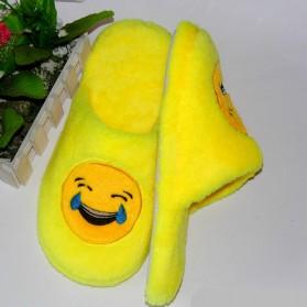 Sandal Rumah Selop Wanita Emoji Cute Home Slipper Size 36-37 - Yellow - 4