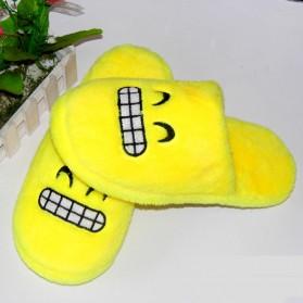Sandal Rumah Selop Wanita Emoji Cute Home Slipper Size 36-37 - Yellow - 5