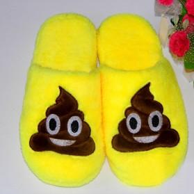 Sandal Rumah Selop Wanita Emoji Cute Home Slipper Size 36-37 - Yellow - 6