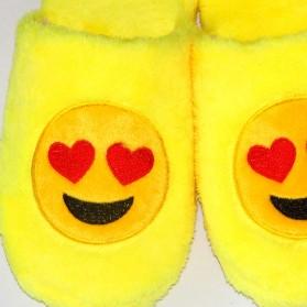 Sandal Rumah Selop Wanita Emoji Cute Home Slipper Size 36-37 - Yellow - 7