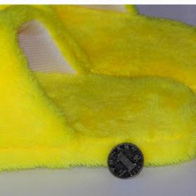 Sandal Rumah Selop Wanita Emoji Cute Home Slipper Size 36-37 - Yellow - 9