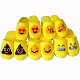 Sandal Rumah Selop Wanita Emoji Cute Home Slipper Size 36-37 - Yellow - 10