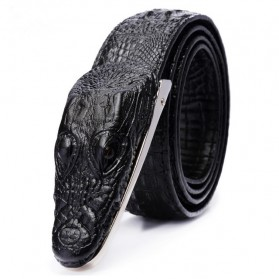 Ikat Pinggang 3D Model Crocodile - Black