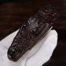 Ikat Pinggang 3D Model Crocodile - Black - 5