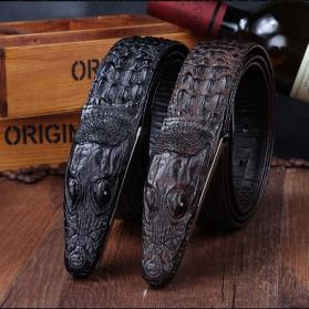 Ikat Pinggang 3D Model Crocodile - Black - 7