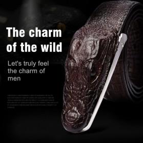 Ikat Pinggang 3D Model Crocodile - Black - 9