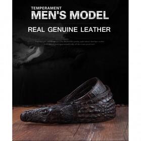 Ikat Pinggang 3D Model Crocodile - Black - 10