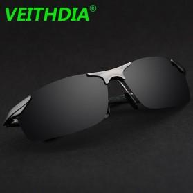 Veithdia Kacamata Pria UV Polarized - 6529 - Black - 2