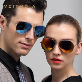 Veithdia Kacamata Pria Aviator UV Polarized - Purple - 5