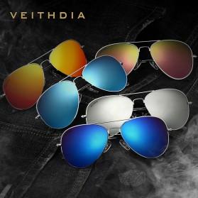 Veithdia Kacamata Pria Aviator UV Polarized - Purple - 6