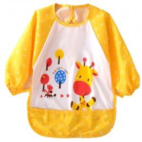 Celemek Bayi Lengan Panjang Waterproof - Yellow