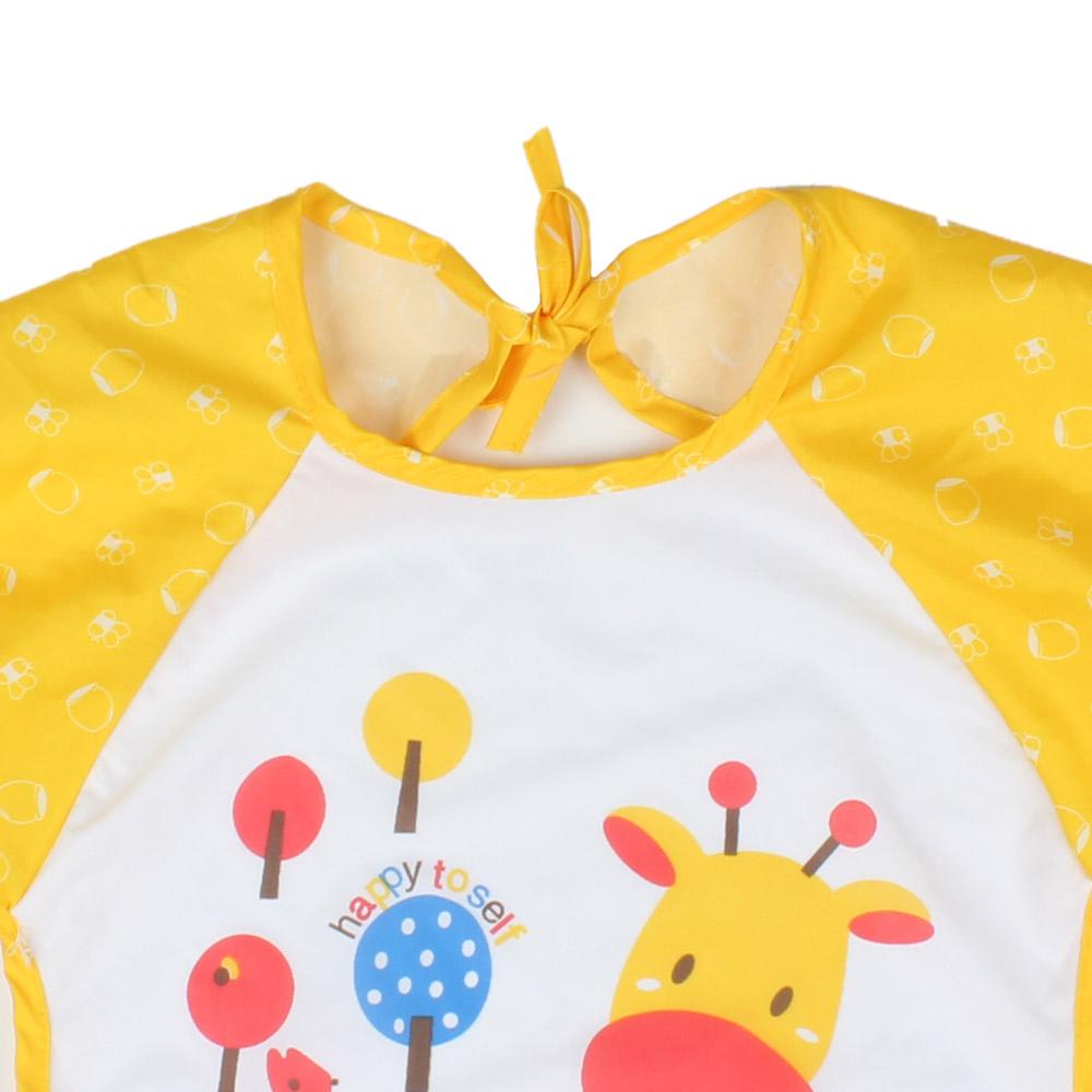 Celemek Bayi Lengan Panjang Waterproof Blue Baju 3