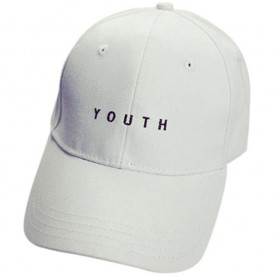 Topi Baseball Youth Caps Letter Sport Fashion - White