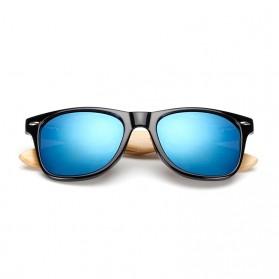 KINGSEVEN Kacamata Fashion Retro Wood - W5504F - Black - 2