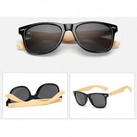 KINGSEVEN Kacamata Fashion Retro Wood - W5504F - Black - 4