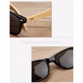 KINGSEVEN Kacamata Fashion Retro Wood - W5504F - Black - 5