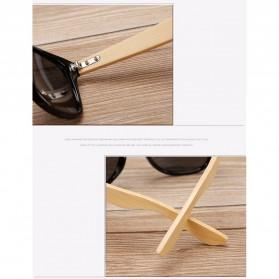 KINGSEVEN Kacamata Fashion Retro Wood - W5504F - Black - 6