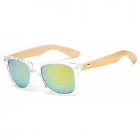 Kacamata Fashion Retro Wood - Transparent