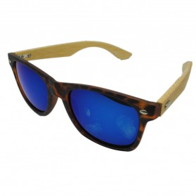 Kacamata Fashion Retro Wood - Brown