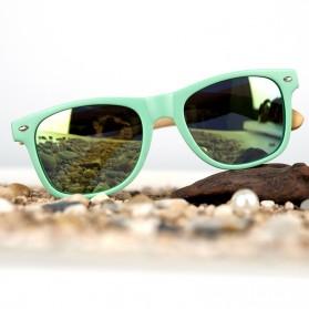 Bamboo Kacamata Fashion Retro Wood - Silver - 2